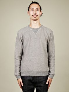 Maison Martin Margiela 14 Elbow Patch Sweater in grey at oki-ni