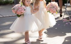 """""""The flower girl dresses were perfect for my wedding day! The price was great, the shipping was on time, and the custom sizing made the dresses fit perfectly on my flower girls. The quality of the dresses were outstanding! I am so happy with my purchases and will recommend their flower girl dresses to any bride! I love the style of dresses too...perfect for my little flower girls...so pretty and elegant! Here are a few pictures...  Thank you, Princessly!!! I give it 5 stars! """" ---- Prince..."""