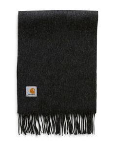 71ebe0b6325 Carhartt WIP Clan Wool Scarf Black Carhartt Wip