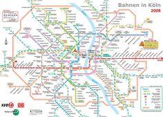 nice Cologne/Bonn Metro Map