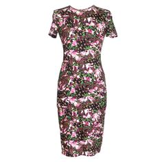 GIVENCHY Dress Lush Floral Fitted Sheath 42 / 6  NEW | From a collection of rare vintage day dresses at https://www.1stdibs.com/fashion/clothing/day-dresses/