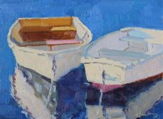 "Daily Paintworks - ""Row Your Boat"" - Original Fine Art for Sale - © Margaret Salisbury"