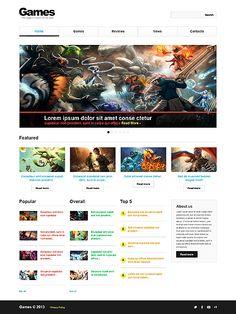 Template   Gamebox Portal Website Template  Game Website