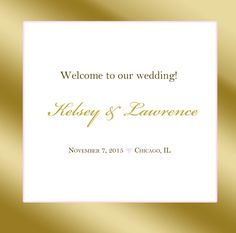 20 Wedding Welcome Bag labels. Gold Frame by 4WeddingWelcomeBags