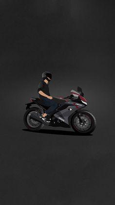 R15 Yamaha, Yamaha Bikes, Yamaha Logo, Yamaha Motorbikes, Dirt Bike Tattoo, Bike Tattoos, Tracker Motorcycle, Motorcycle Art, Duke Bike