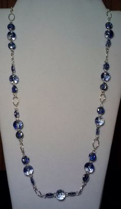 Handmade Beaded Necklace with Crystal Glass by KimsSimpleTreasures, $20.00