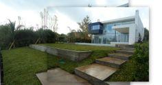 ODA al VERDE, Altamira 58, jardin aterrazado al lago, contención muros de hormigon