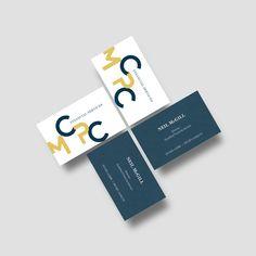 Business card mockup. Logo design.