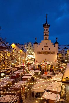 The Kempten Christmas Market, Kempten, Bavaria, Germany.Find savings on ur next trip at Trendslove. Christmas Markets Germany, German Christmas Markets, Christmas Markets Europe, Christmas Time, Beau Site, Discount Travel, Places To Go, Beautiful Places, Around The Worlds