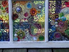 DIY recycle salvaged windows #art #glass
