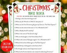 Christmas Movie Trivia, Christmas Party Games For Adults, Adult Christmas Party, Holiday Games, Holiday Movie, Kids Party Games, Holiday Fun, Christmas Activities, Christmas Holiday