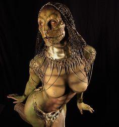 Another photo of @nefxdan makeup using @rbfx prosthetics on @carlottachampagne . Facial sculpture by @wayneandersondesigns #neccessaryevil #carlottachampagne #wayneandersondesigns #rbfx #foamlatex #foamlatexprosthetics #specialeffects #specialmakeupeffects #prosthetics #snake #reptile