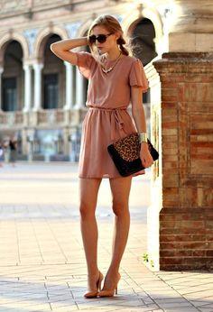 @roressclothes closet ideas #women fashion Pink Chiffon Short Dress