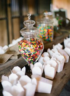 Candy station...to go as favors.
