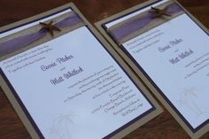 Beach Wedding Invitation Seaside Elegant by decadentdesigns