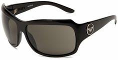 Roxy Women's Shyme REWN007 Shield Sunglasses,Black Frame/Grey Lens,one size