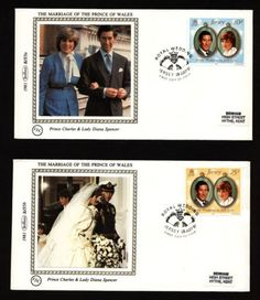 Royal Wedding First Day Covers Windsor Fc, Bad Life, Charles And Diana, 1st Day, First Day Covers, Vintage Stamps, Prince Of Wales, Mail Art, Princess Diana