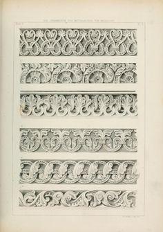 Les ornements du Moyen Age. Die Ornamentik des ... Gothic Pattern, Pattern Art, Architecture Drawings, Historical Architecture, Gothic Architecture, Carving Designs, Ornaments Design, Rococo, Designs To Draw