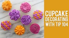How to Decorate Buttercream Flower Cupcakes