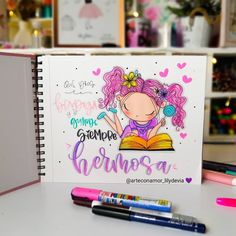 Cute Love Cartoons, Fun Diy Crafts, Notebook Covers, Balloons, Doodles, Banner, Happy Birthday, Drawings, Creative