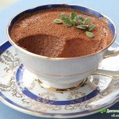 Легкий шоколадный мусс с мятой