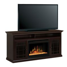 Hazelwood Electric Fireplace Media Console w/Glass Embers - GDS25G-1388DR