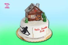 Torta chata a lyžiar, na 40-ku