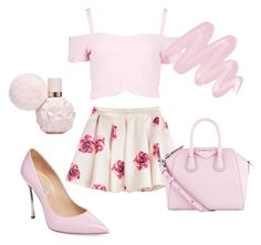 """""""Sweet Like Candy♡"""" by emsliewall13 ❤ liked on Polyvore featuring Boohoo, Casadei, Givenchy and Obsessive Compulsive Cosmetics"""