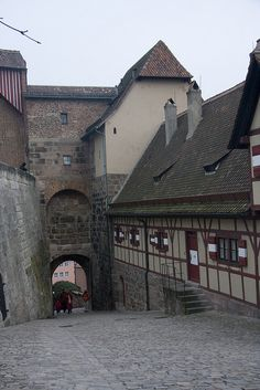 A view leading towards the port warehouse district in Ceranna (Nuremberg, Bavaria)