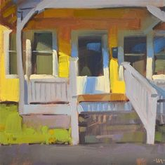 "Daily+Paintworks+-+""Paint+the+House+Yellow""+-+Original+Fine+Art+for+Sale+-+©+Carol+Marine"