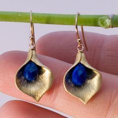 Gold + Sapphire Blue