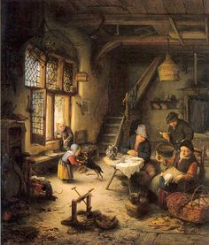 Peasant Family in an Interior, van Ostade