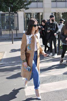 Street Style | Natasha Goldenberg in a Miu Miu Coat