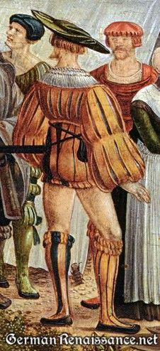 short Landesknecht hosen images 15th century, 16th century. Doublet, Cape, Capelet, Romeo,  revels, faire, Elizabethan, Tudor, Renaissance