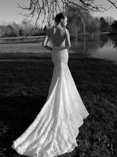 Inbal Dror backless wedding dress