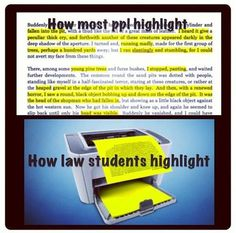 highlighter law student