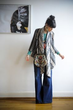 cardigan and flare