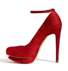 Wow your guests with red wedding shoes!