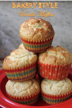 muffins recipes easy / muffins + muffins recipes + muffins recipes easy + muffins healthy + muffins recipes healthy + muffins for baby + muffins with mom + muffins that taste like donuts recipe Bakery Style Muffin Recipe, Bakery Style Cake, Healthy Muffin Recipes, Healthy Muffins, Vanilla Muffin Recipes Easy, Eggless Muffins, Buttermilk Muffins, Vanilla Recipes, Cookies