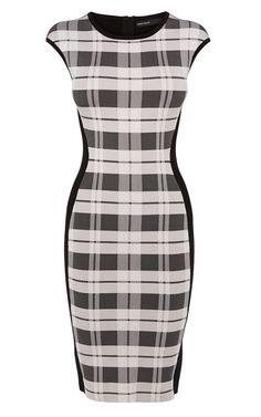 Check Bandage Knit Dress | Karen Millen (KT001)