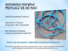 Wspierajmy się! #alergia #astma #zdrowie #bransoletka