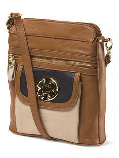 Leather Flap Pocket Crossbody - Handbags - T.J.Maxx c7f3d800fd607
