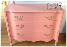 Have you been wanting to tackle DIY projects like painting, building or using new tools and products, but are afraid of messing up? Furniture, Painting Cabinets, Cabinet Paint Colors, Coral Furniture, Coral Painted Furniture, Furniture Rehab, Coastal Bedrooms, Paint Color Inspiration, Coral Dresser
