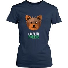 [product_style]-Dogs T Shirt - I love my Yorkie-Teelime Yorkies, Yorkie Puppy, Junior Shirts, Buy A Dog, Puppy Eyes, Dog Shirt, Yorkshire Terrier, Dog Owners, Puppy Love