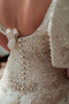 Beading on Filipiniana terno. Filipiniana Wedding, Filipiniana Dress, Bridal Gowns, Wedding Gowns, Filipino Fashion, Wedding Pics, Wedding Ideas, Whimsical Wedding, Here Comes The Bride