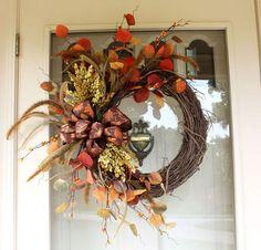 fall decor wreath faux stems, crafts, wreaths