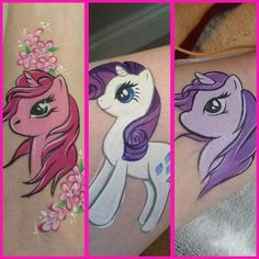 My little pony-Cartoon by Lus face painting Face Painting Unicorn, Adult Face Painting, Leg Painting, Stone Art Painting, Unicorn Face, My Little Pony Unicorn, My Little Pony Cartoon, My Little Pony Party, Diy Face Paint