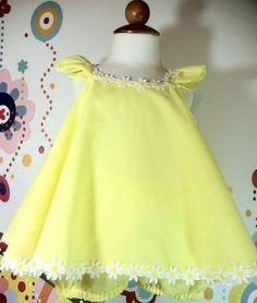Girls Babies Easter Dress & Ruffled bloomers by NanaJustbananas, $60.00