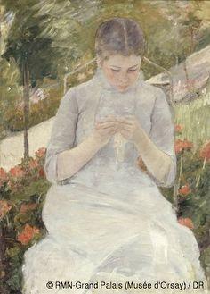 Musée d'Orsay: Pittura - Mary Cassatt (1844-1926)  Giovane donna in giardino  1880-1882   Olio su tela  Cm 92 x 65  Parigi, museo d'Orsay  Legato Antonin Personnaz, 1937  © RMN-Grand Palais (Musée d'Orsay) / DR