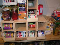 First In First Out Shelf plans.  DIY FIFO can storage.  Kitchen or pantry organization.